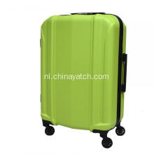 Green ABS business luggage upright